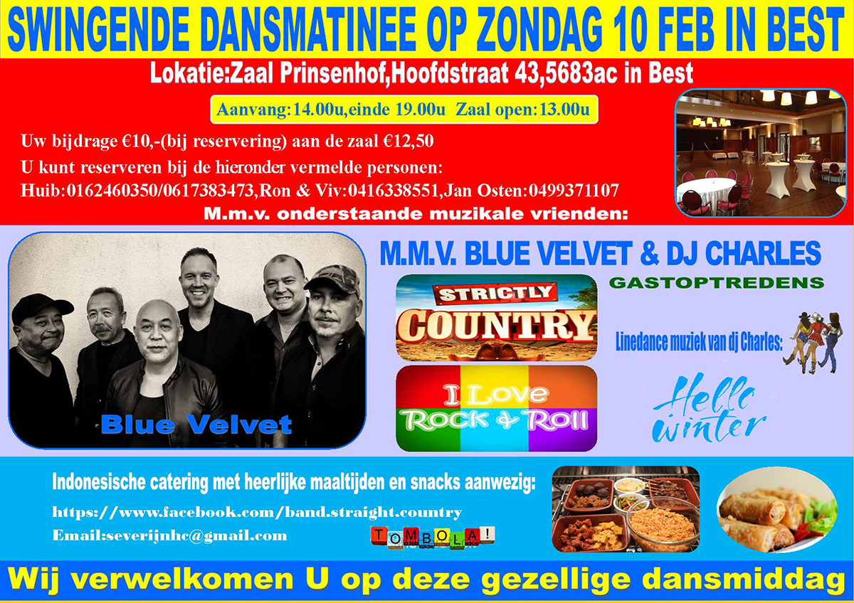 Grandiose Winterparty met Blue Velvet in Best
