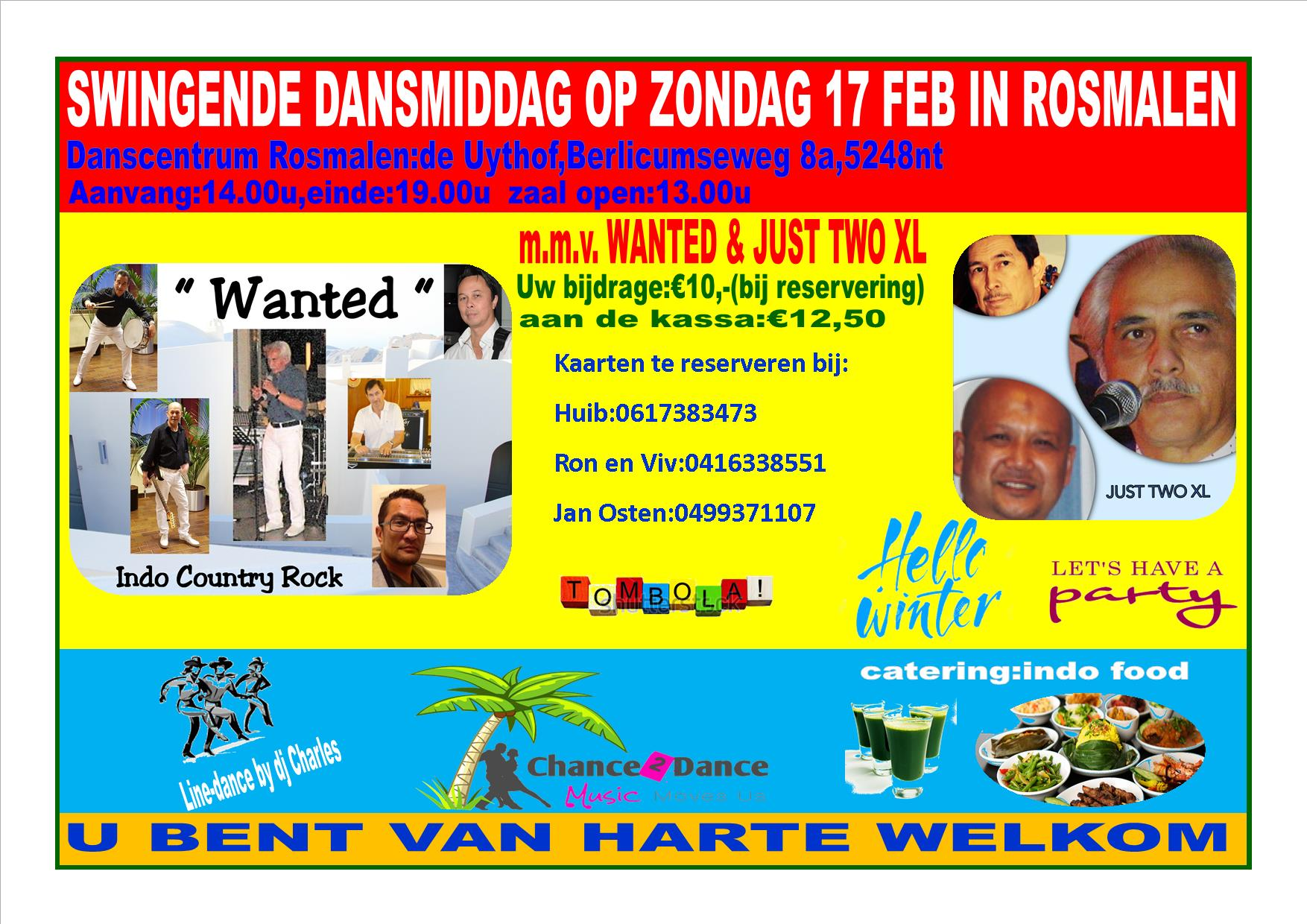 Grandiose dansmatinee met Wanted & en Just Two XL