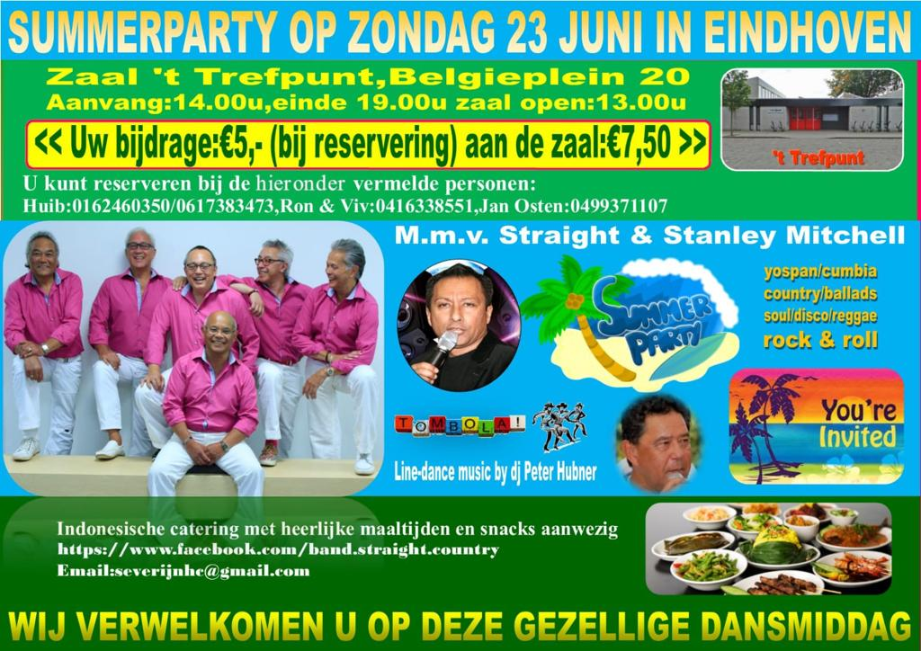 Summerparty met STRAIGHT & STANLEY MITCHELL in Eindhoven