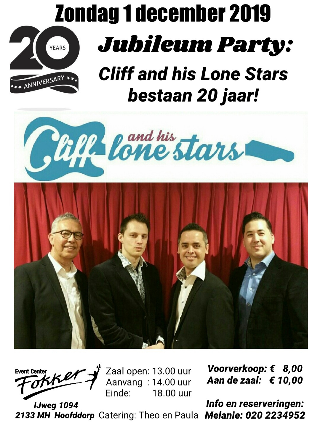 Jubileum Party Cliff and his Lone Stars - 20 jaar