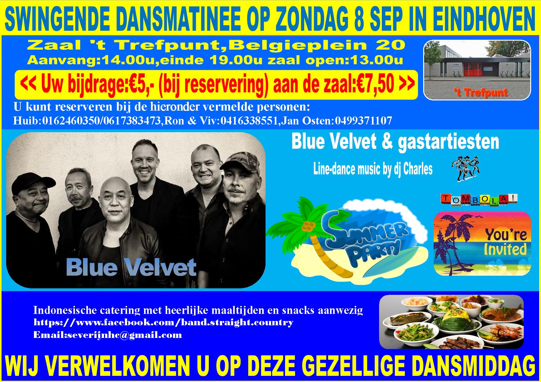 Country,Rock & Roll and more with Blue Velvet in Eindhoven